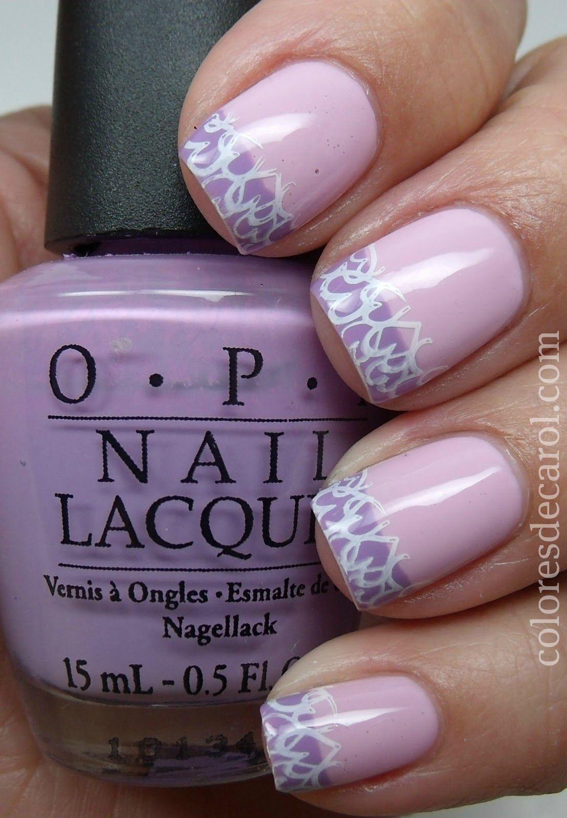 lilac nail art