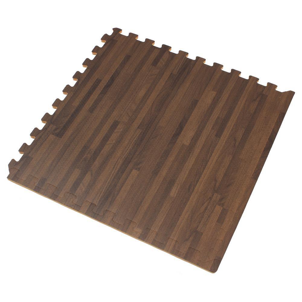 Forest Floor Walnut Printed Wood Grain 24 In X 24 In X 3 8 In
