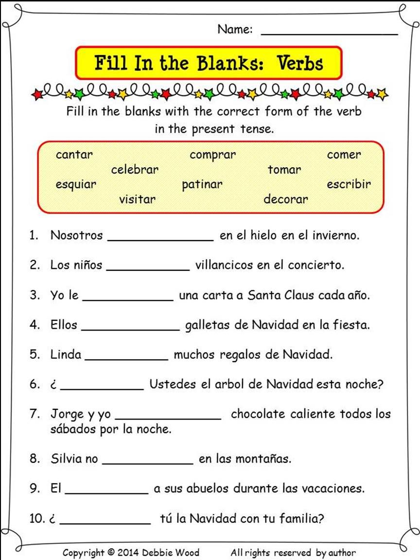 Spanish Christmas Worksheets And Conversation Cards Beginner Spanish Lessons Spanish Lesson Plans Spanish Christmas [ 1152 x 864 Pixel ]