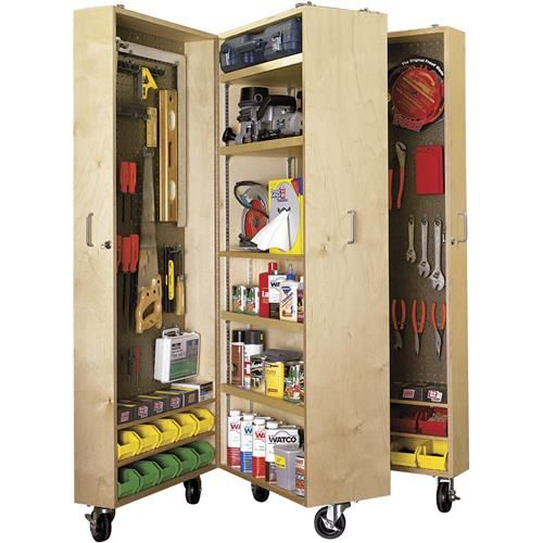 Easy Garage Cabinets Plans: Paper Project Plans To Build A Mobile Tool Cabinet