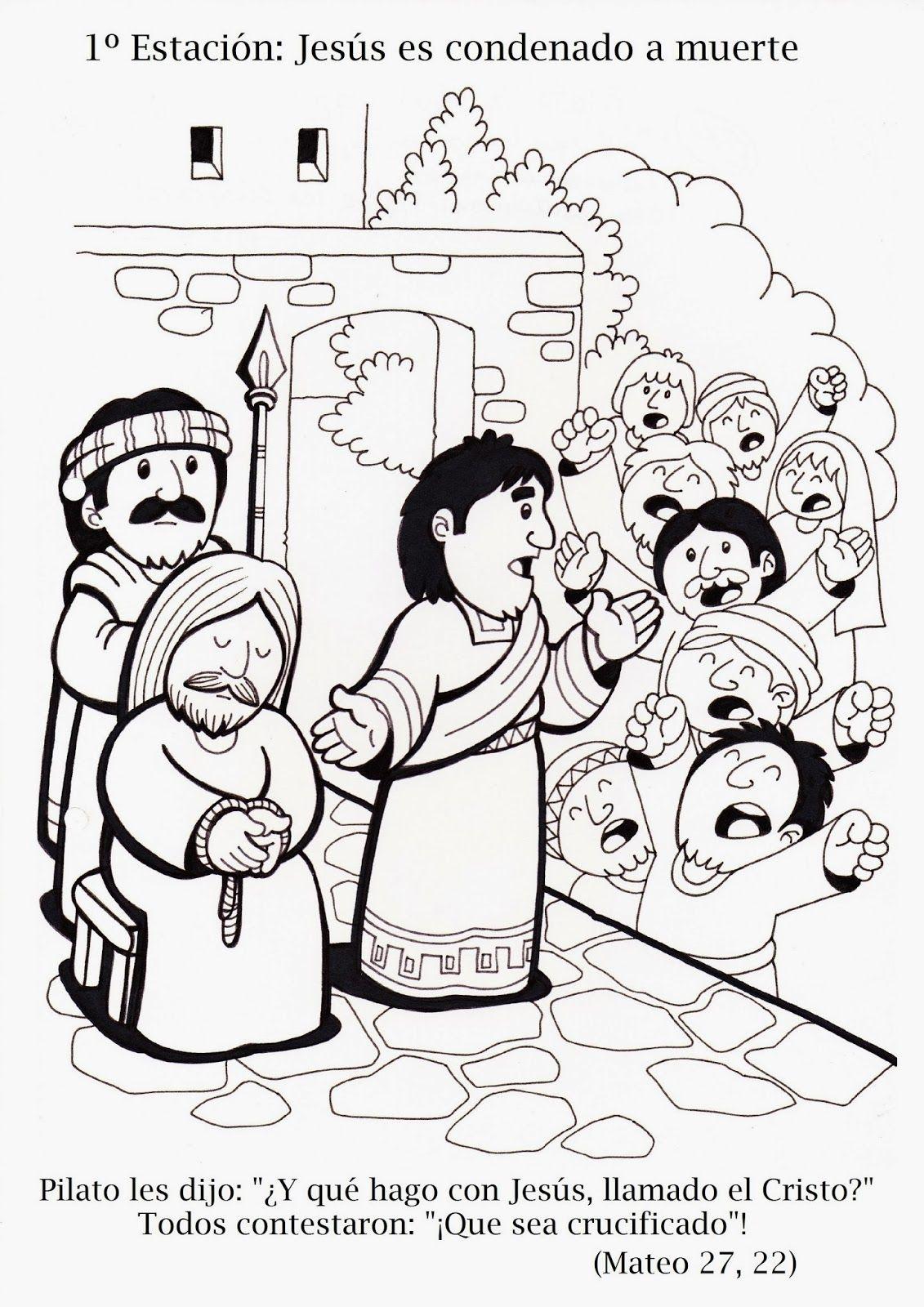 Via Crucis tradicional Todos los dibujos están realizados en tamaño ...