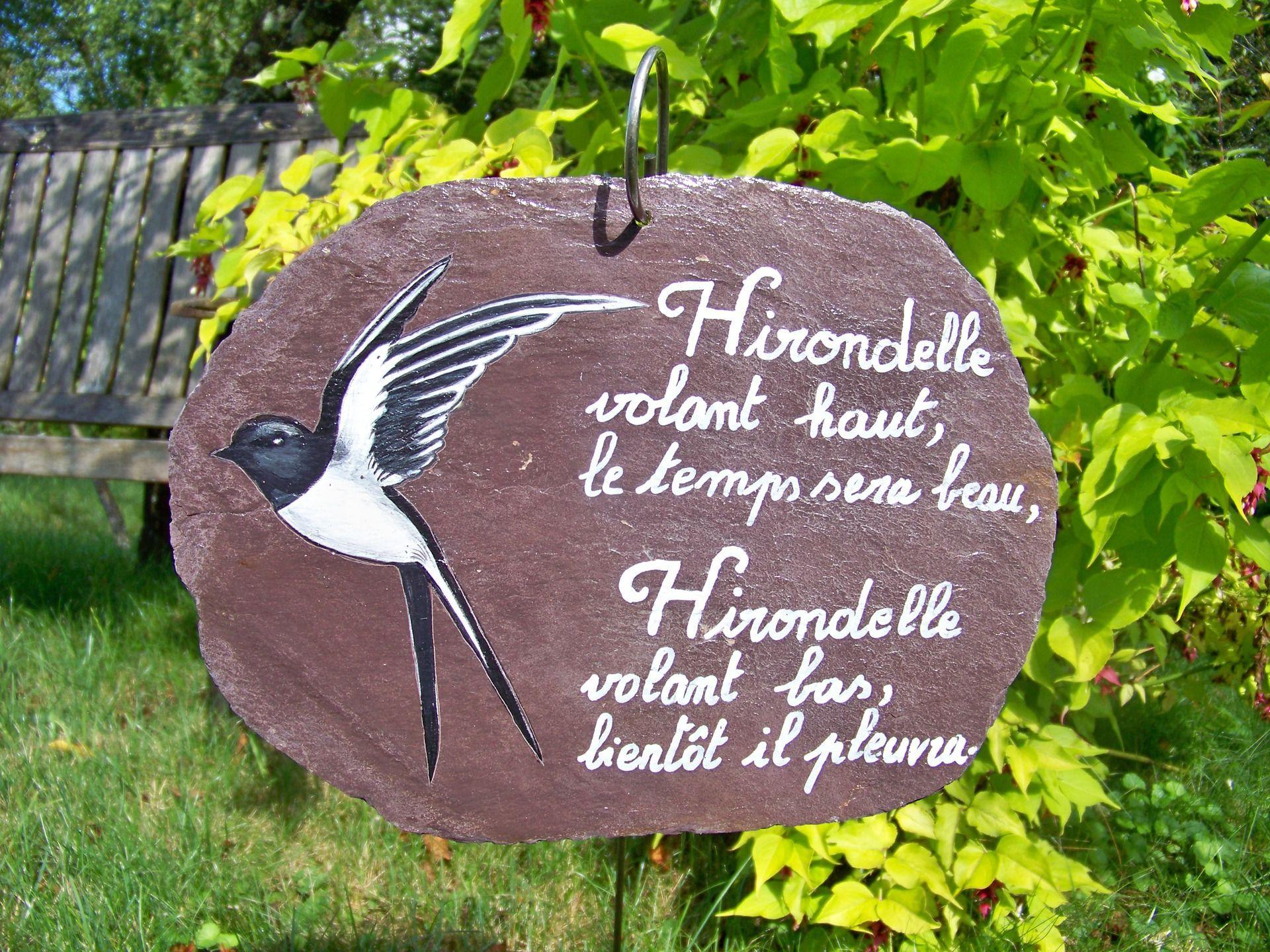 Ardoise d corative tuile d coration de jardin panneau - Panneau ardoise jardin ...