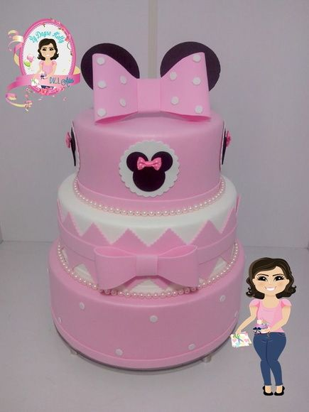 Bolo Falso EVA Minnie Rosa BOLOS E DOCES Pinterest