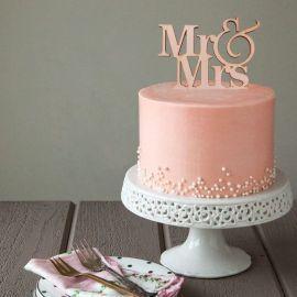 D/écoration de g/âteau de mariage humoristique avec inscription /« Mr and Mrs /» pour mari/ée en plein air
