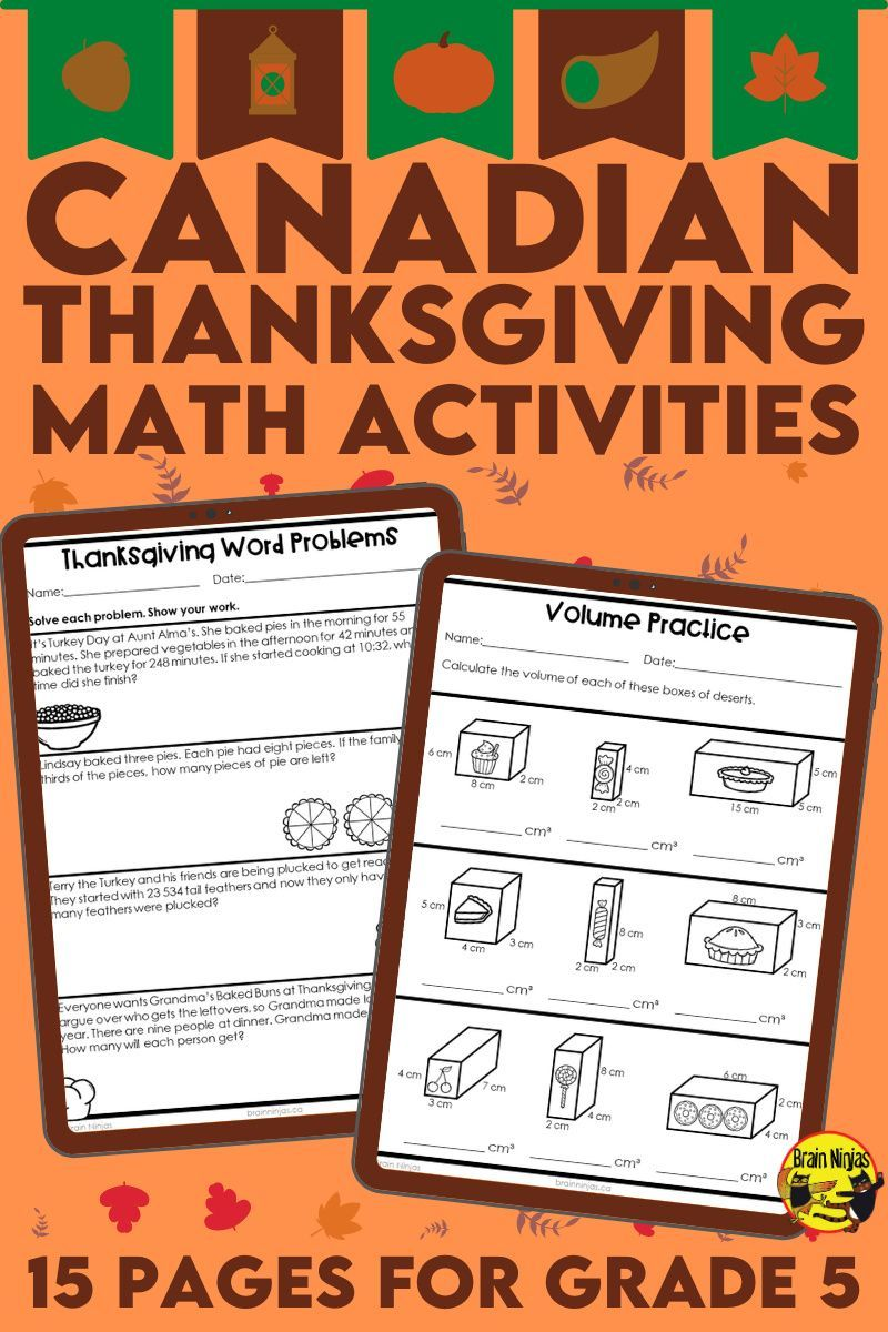 Thanksgiving Math Worksheets Grade 5 Thanksgiving Math Worksheets Math Review Activities Math