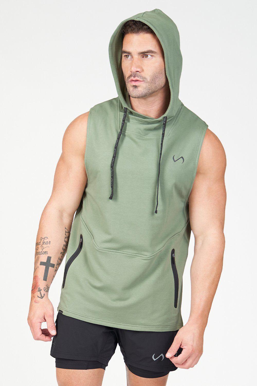 Air-Flex Sleeveless Gym Hoodie in 2021   Gym hoodie, Hoodies men, Sporty  outfits men