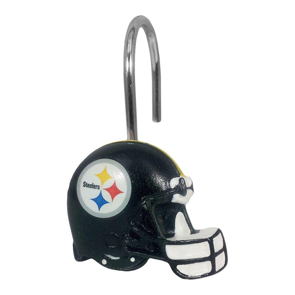 Pittsburgh Steelers 12 Pack Shower Curtain Hooks Curtains With Rings Shower Curtain Rings Pittsburgh Steelers