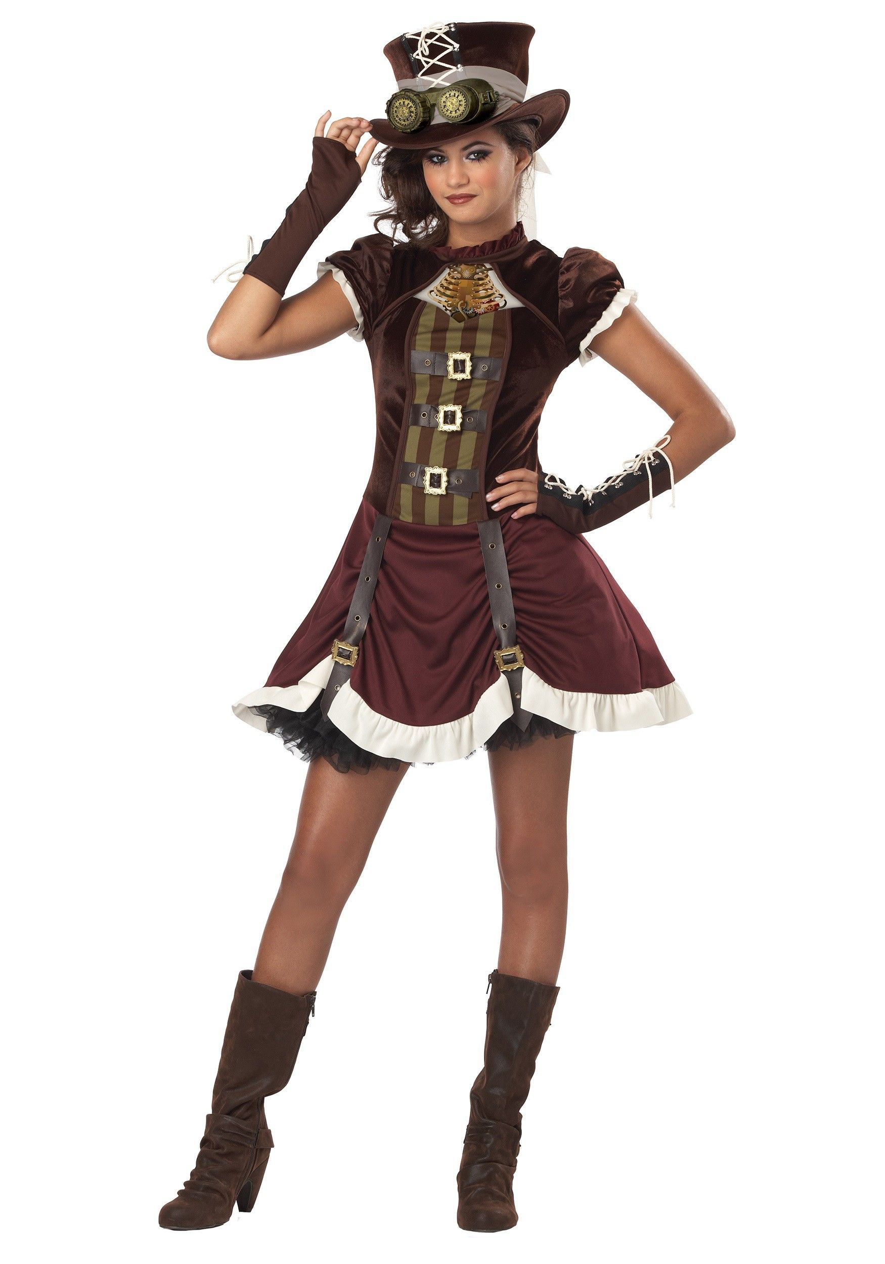 Tween Steampunk Girl Costume | Costumes, Halloween costumes and ...