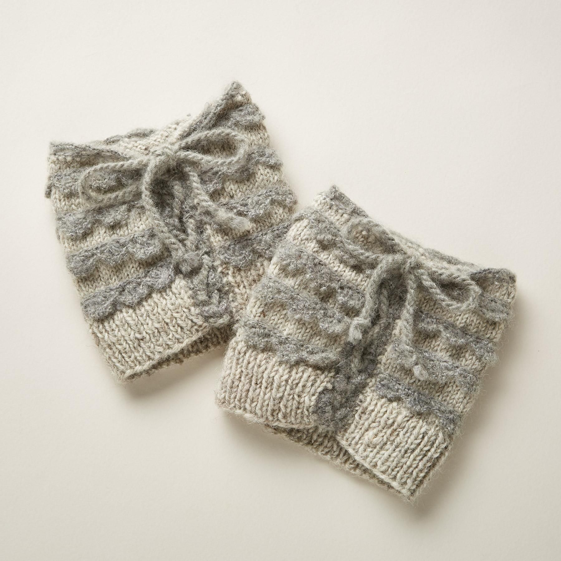 CHARMED BOOT TOPPERS -- Our cozy, scrunchable hand-knit boot toppers ...