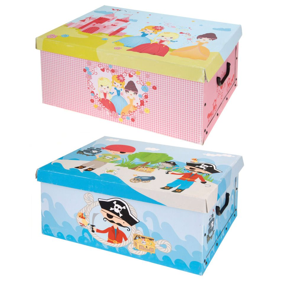Marvelous Kids Pirate Or Princess Design Folding Room Tidy Bedroom Toy Storage Box
