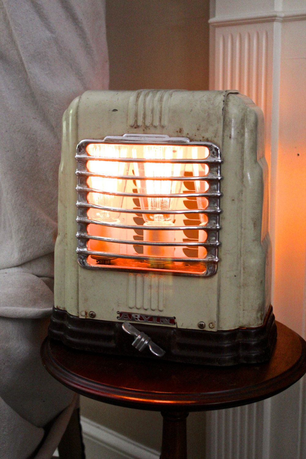 Upcycled Vintage Arvin Space Heater Accent Lamp By