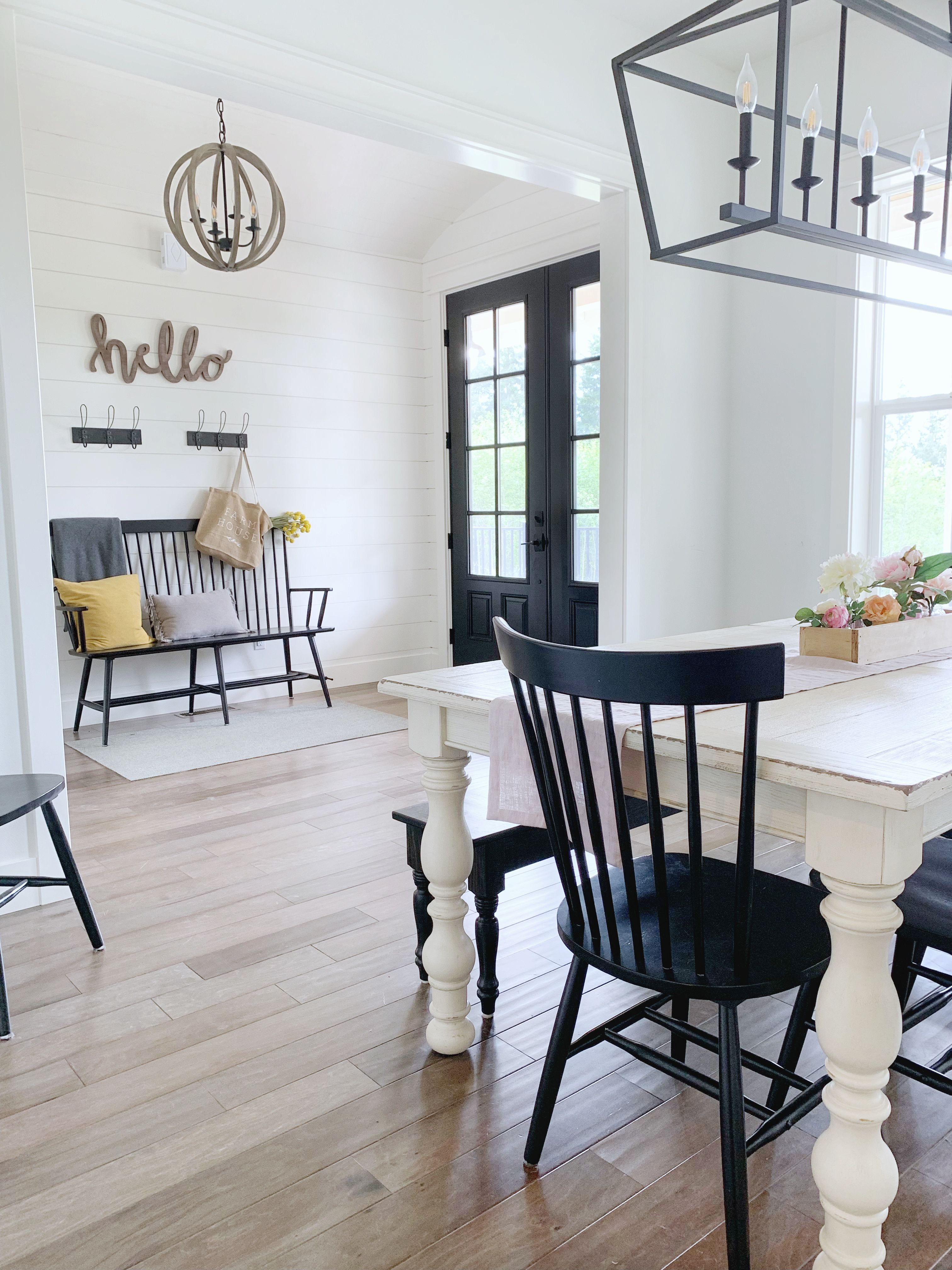 45+ White farmhouse table black chairs ideas in 2021