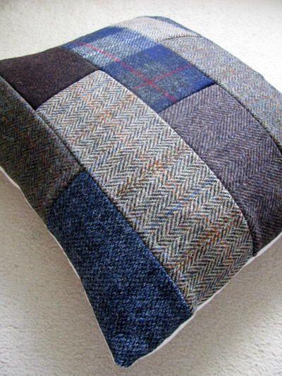 f1474fb678bfa Patchwork Tweed DIY Throw Pillows   DIY Home Decor Ideas   Diy throw ...