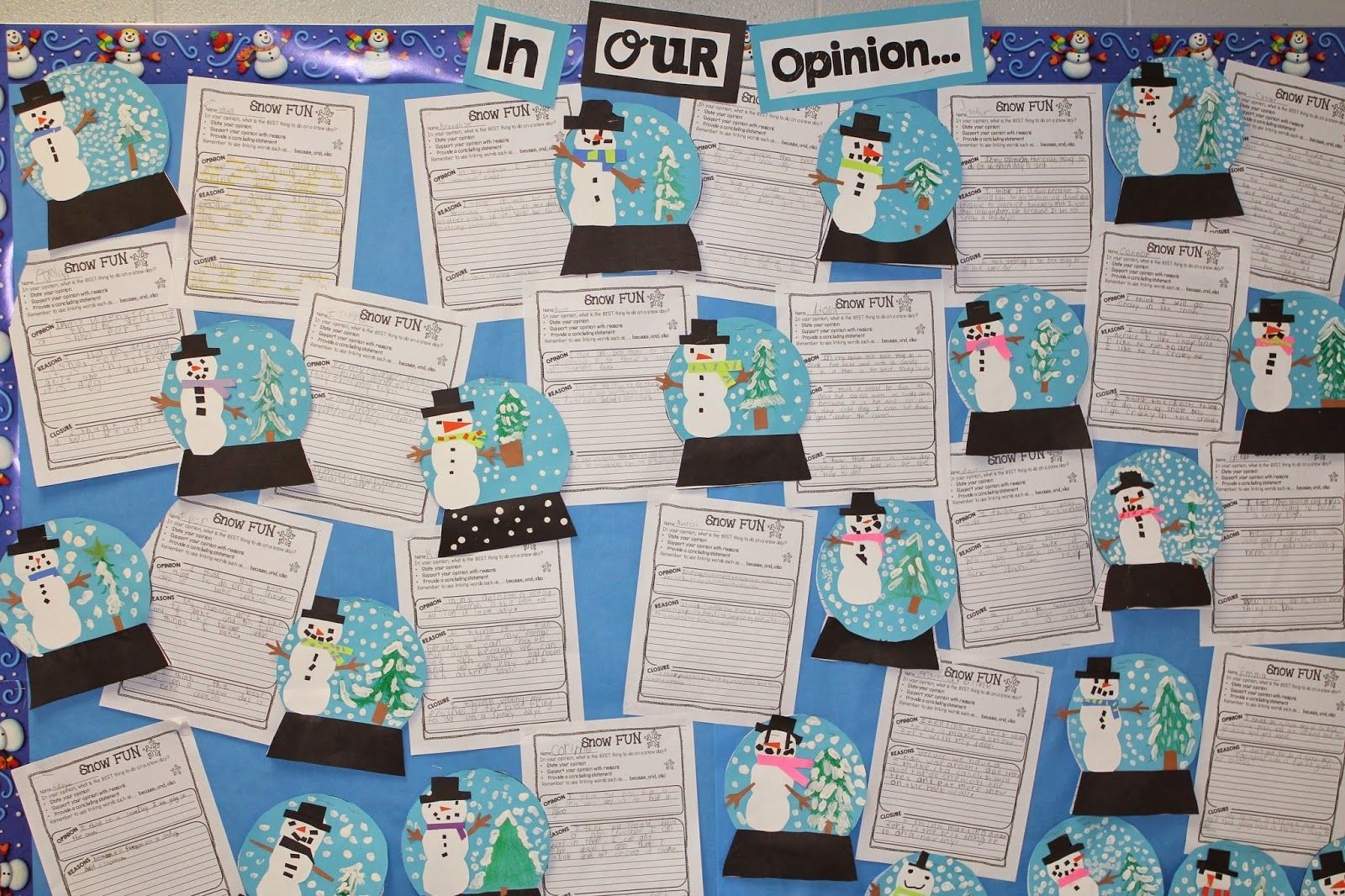 Snow Globes Amp Opinion Writing What Is The Best Thing To Do On A Snow Day
