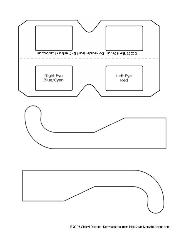 How to Make Your Own 3D Glasses Paper craft templates, Template - print lines on paper