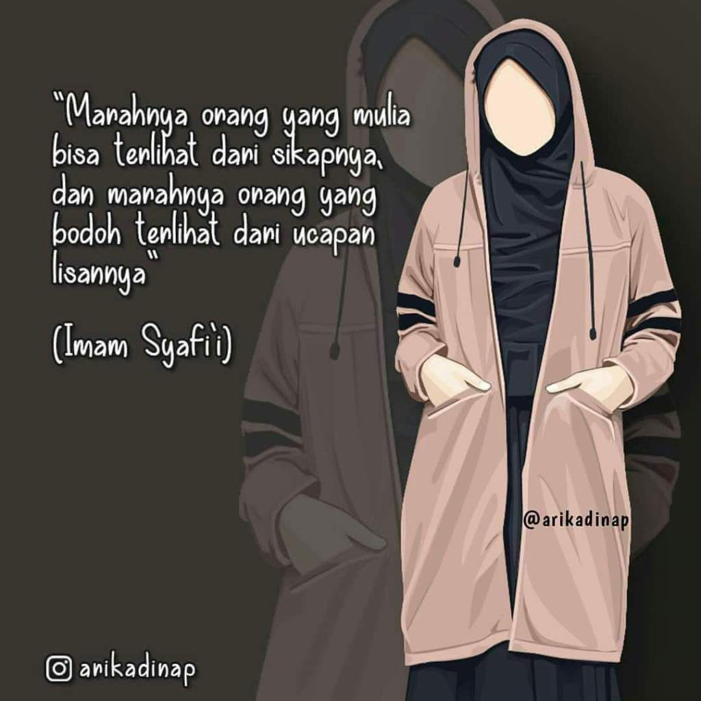 Gambar Kartun Muslimah Cantik Islamic Quotes Kartun Kutipan Kata Bijak