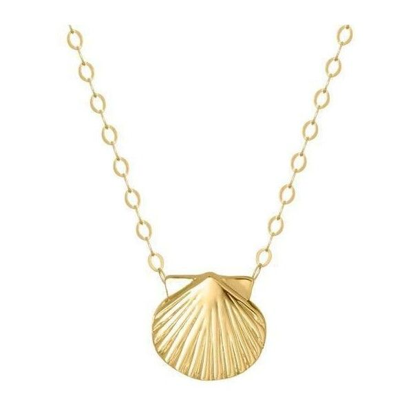 Reeds Teeny Tiny 10kt Yellow Gold Seashell Necklace 165 AUD