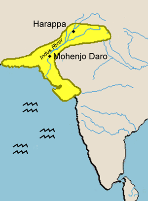 Harappa And Mohenjo Daro   Map Of The Indus River Civilizations