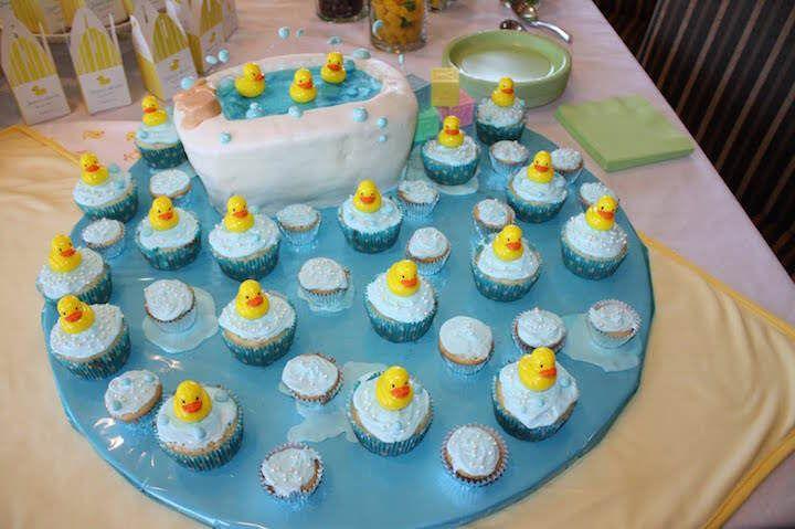 Decoraci n tem tica para bautizo de ni o con patitos en - Decoracion para baby shower nino ...
