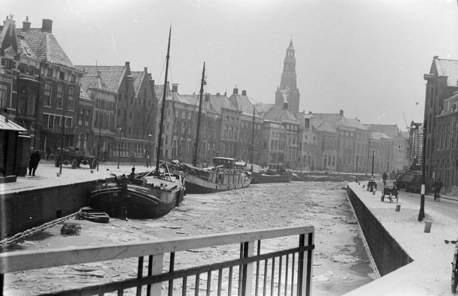 Groningen - Hooge der Aa - circa 1940/1942 - Fotograaf Cobie Douma