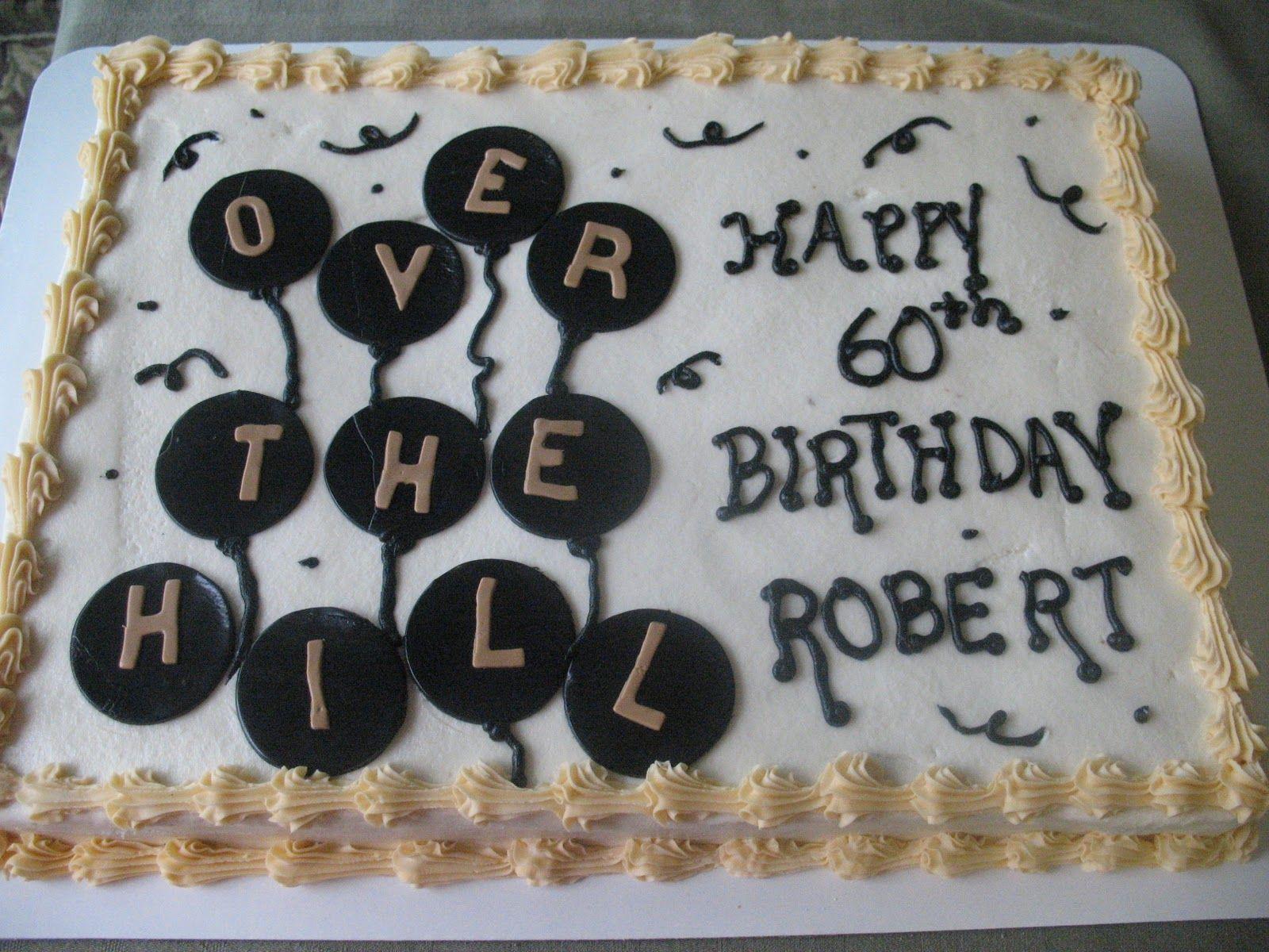 Over The Hill Birthday Birthday Sheet Cakes 50th Birthday Cake