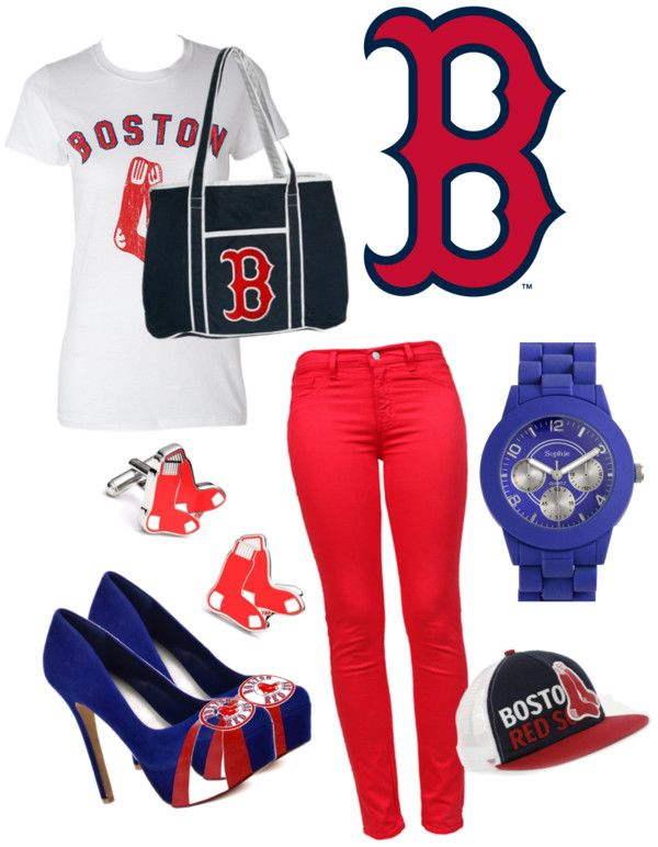 263f7a562 Red Sox Outfit, created by malihamchaudhry on Polyvore | boston red ...