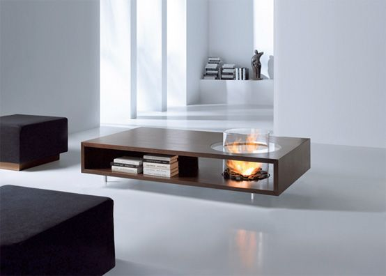 Coffee Tables with Builtin Fireplace Ideas for the home