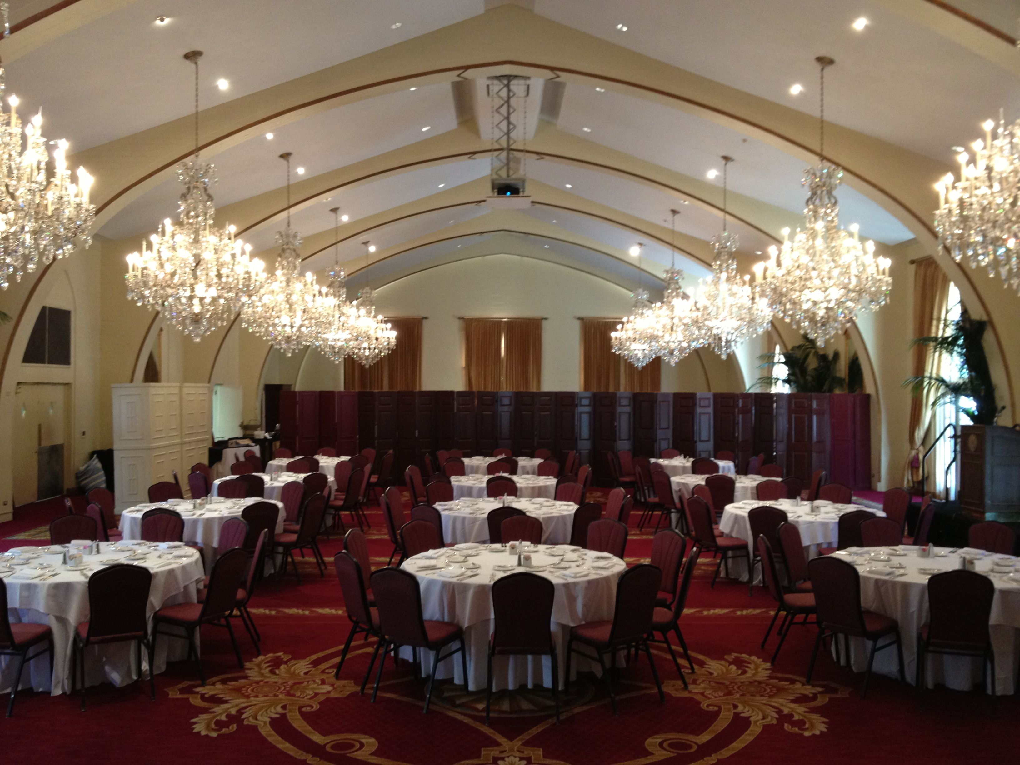 Town and Gown at USC all set up for the Provost\'s Luncheon honoring ...