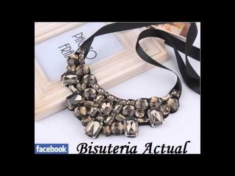 M Bisuteria Actual collares colgantes necklace collana collier babero maxi bib - YouTube