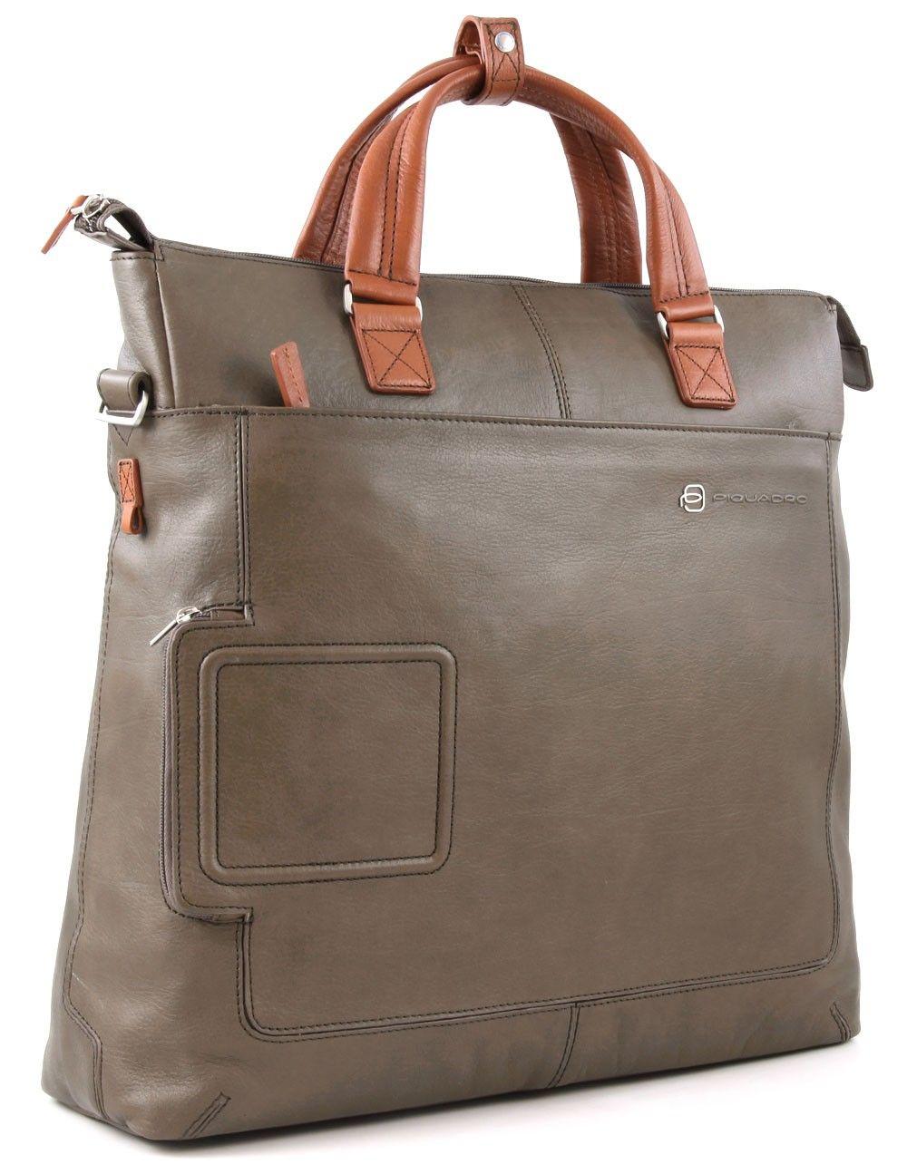fc8776badfc1 Piquadro Vibe 15   Laptop Case Leather 40 cm - CA2813VI - Designer Bags  Shop - wardow.com