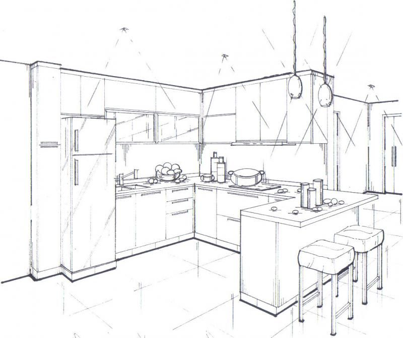 Kitchen24960603 std jpg 800x670 · interior design drawinginterior design renderingsinterior design sketchessketch designperspective sketchpoint
