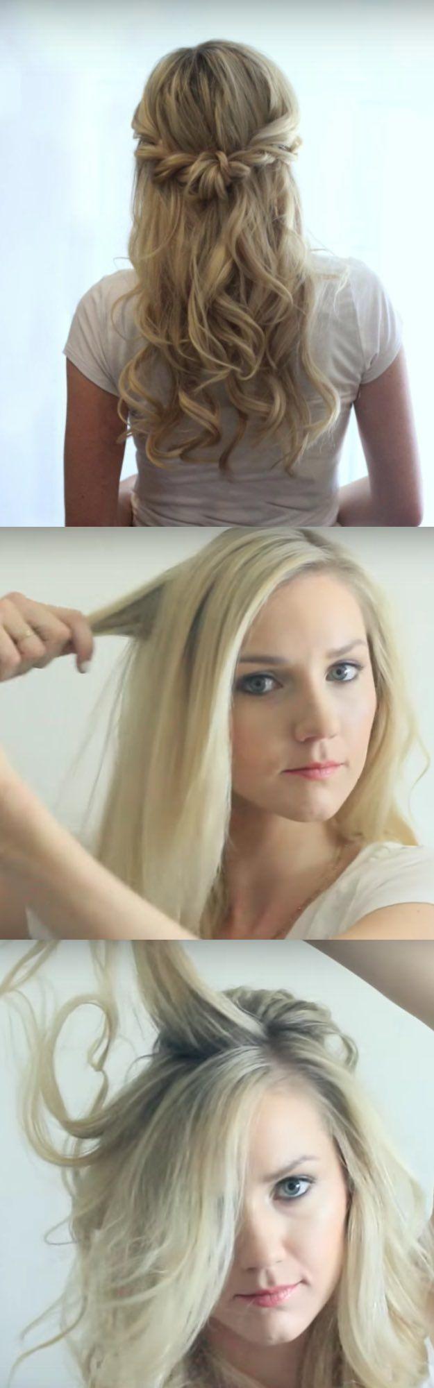 easy halfup halfdown hairstyle tutorials for prom crown