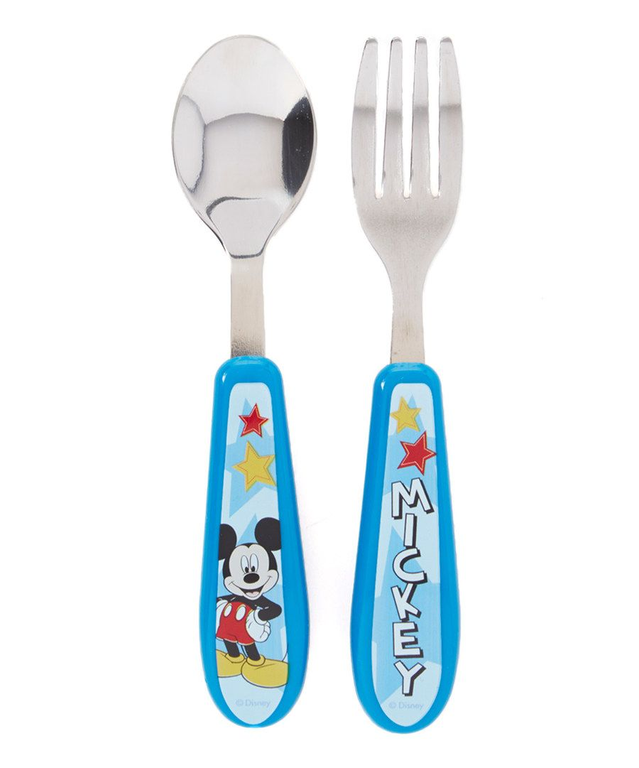Look at this Mickey Mouse Spoon & Fork on #zulily today!