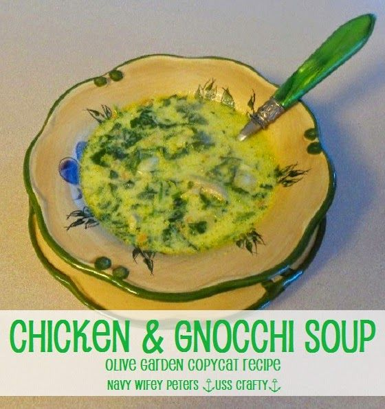 Chicken and Gnocchi Soup Recipe ~ Navy Wifey Peters Aboard the USS Crafty
