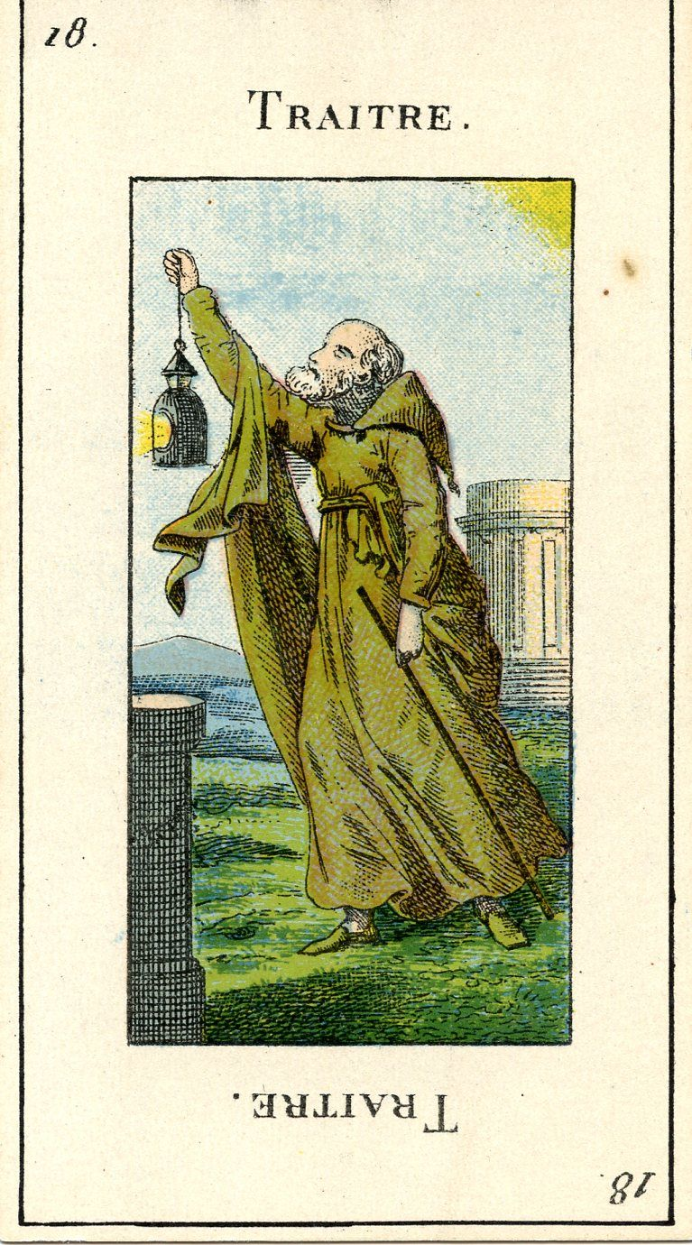 Vintage French Tarot Card, Traitre