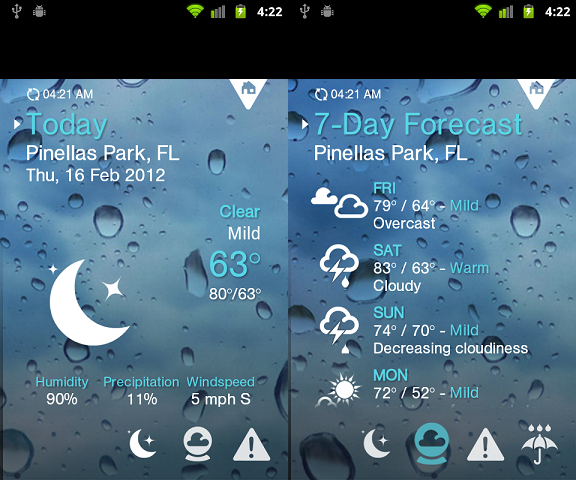 Pin by Aoife Mckenna on Weather Design App, Android apps