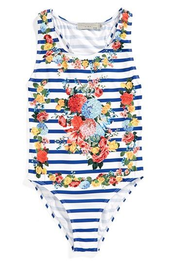 Stella McCartney Kids 'Marcie' One-Piece Swimsuit (Toddler Girls, Little Girls & Big Girls) available at #Nordstrom