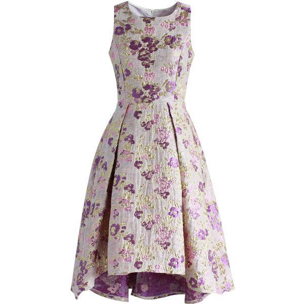 Chicwish Glitter Blossom Jacquard Waterfall Prom Dress (50 ...