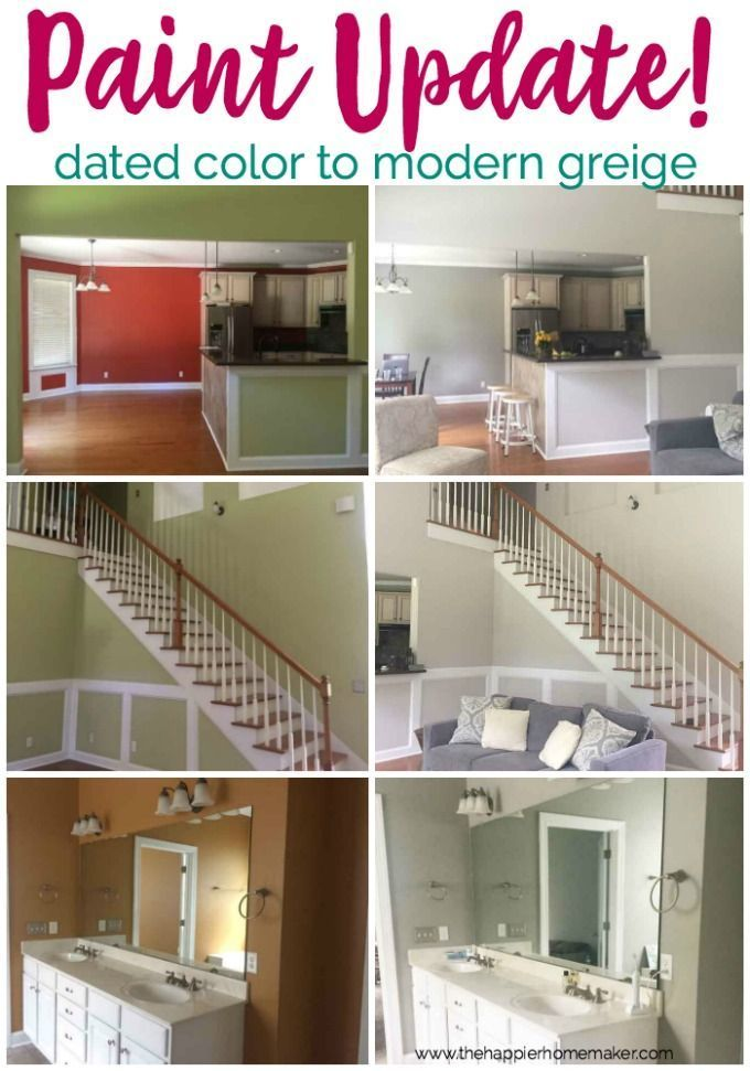 Update dated 90s paint with more modern grays like Sherwin Williams Agreeable Gray and Dorian Gray! #sherwinwilliamsagreeablegray Update dated 90s paint with more modern grays like Sherwin Williams Agreeable Gray and Dorian Gray! #sherwinwilliamsagreeablegray