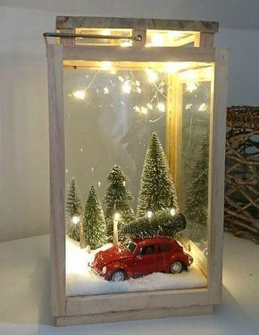 40+ Unique DIY Christmas Lantern Decoration Ideas / Inspo - Hike n Dip #diychristmasdecor