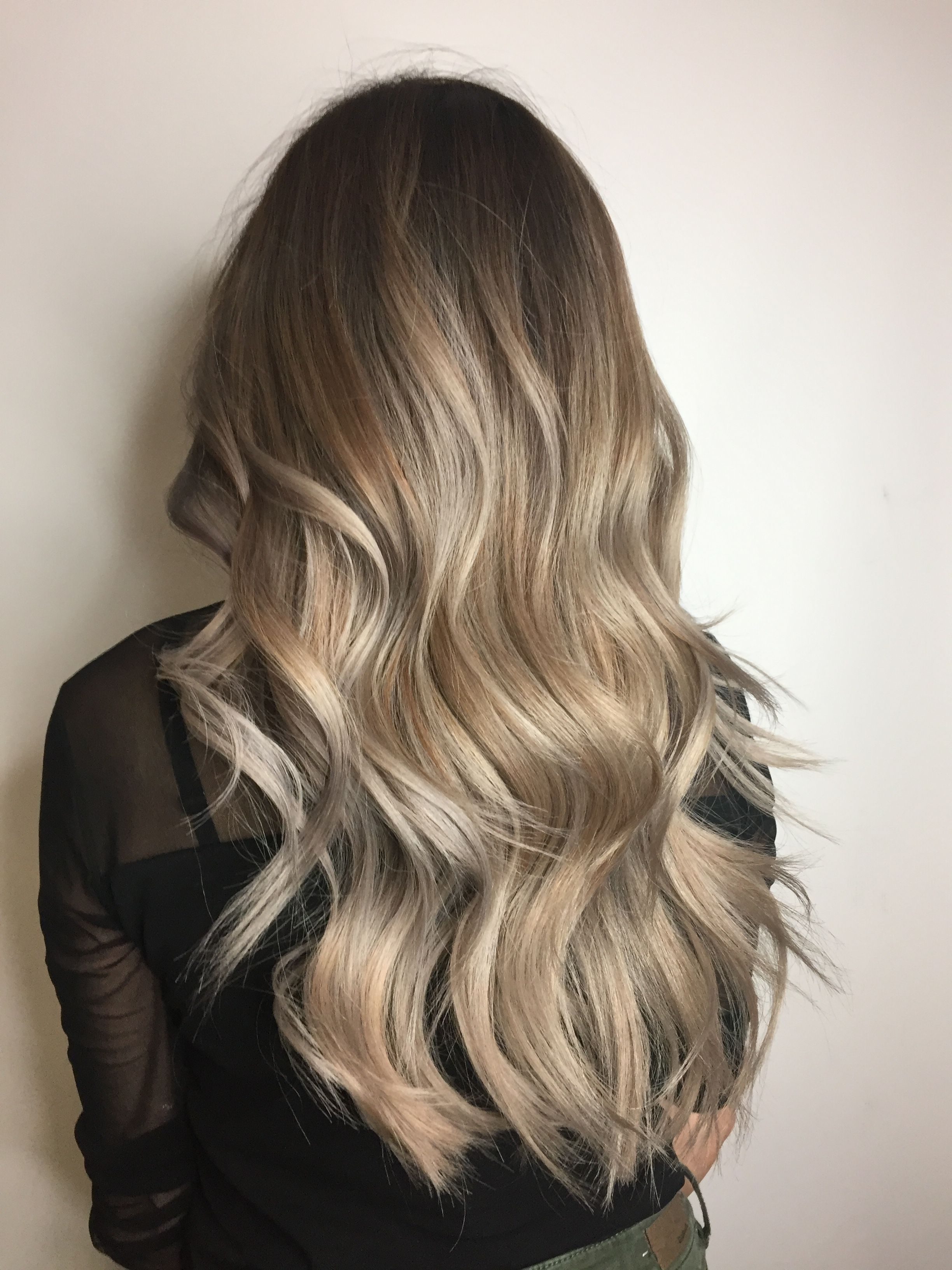 Ash Blonde Balayage With Root Melt Blonde Balayage Balayage