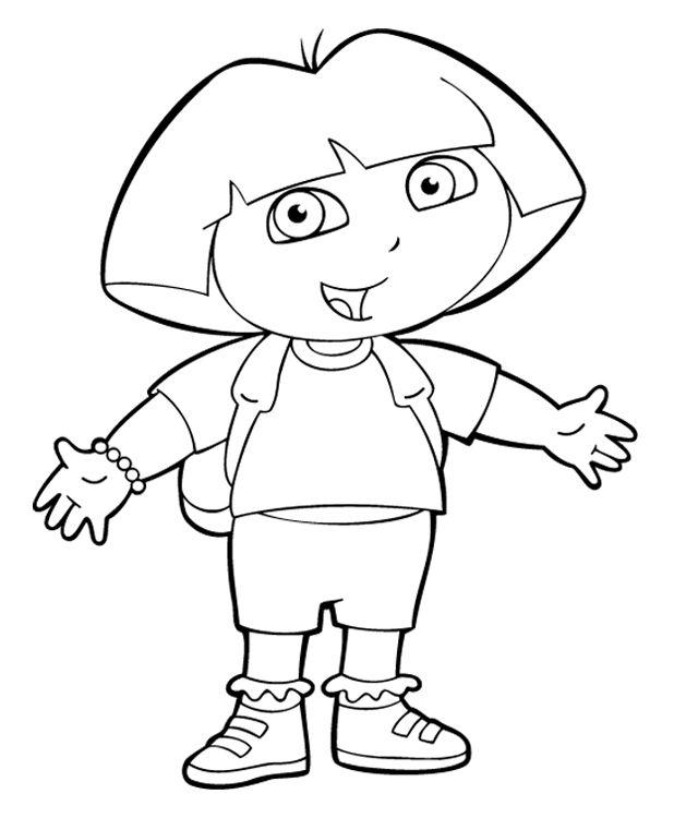Dora Face Coloring Page Digital