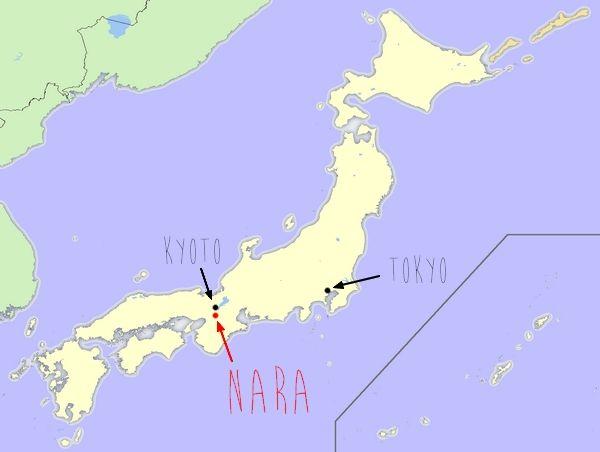 carte nara | Japon | Pinterest | Nara