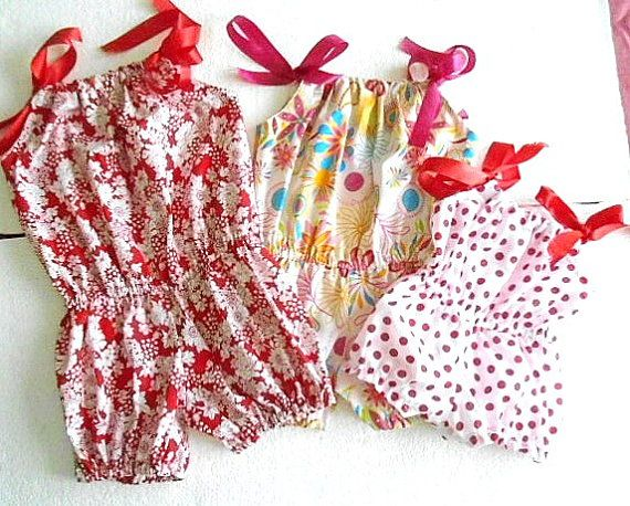Romper Sewing Pattern Pillowcase Bubble Romper Baby Infant Toddler Pattern PDF