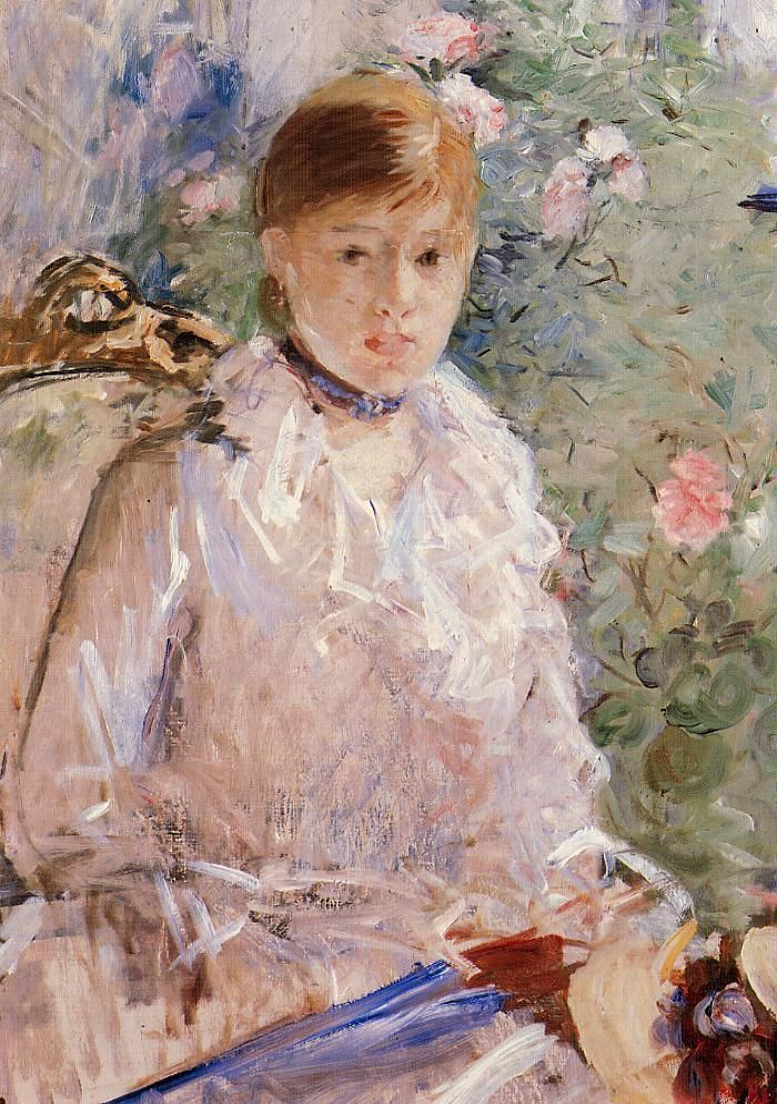Берта Моризо 3. Summer (also known as Young Woman by a Window) - 1878 - Berthe Morisot | Berthe morisot, Morisot, Art