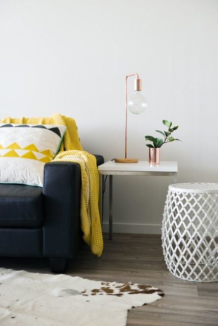 New Boutique Accommodation in Brisbane Styling: Kelly Nieves photo: Anna Wareham photography #copper #yellowpop #white