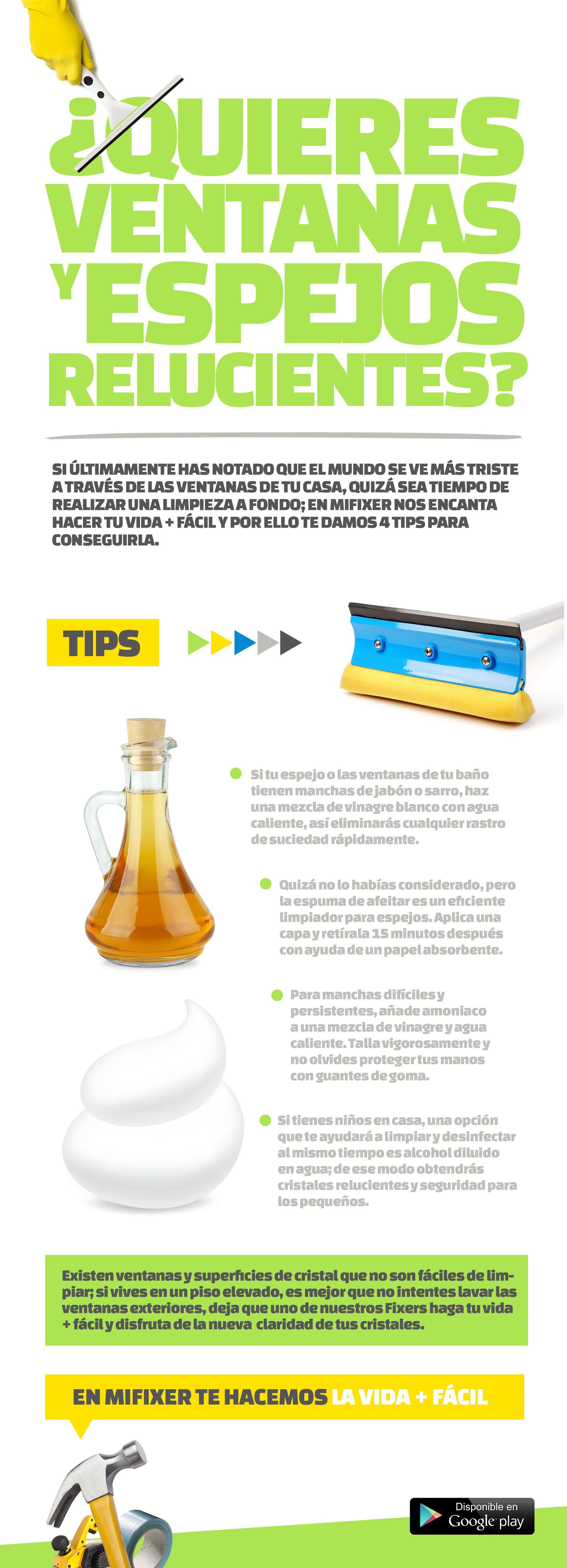 Tips Para Limpiar Ventanas Y Espejos Tips Para El Hogar  ~ Limpiar Tapicerias Con Amoniaco
