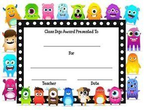 Class Dojo Award Certificate {Freebie} Class dojo, Dojo