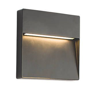 saxby tuscan square matt black led outdoor wall light 9w. Black Bedroom Furniture Sets. Home Design Ideas