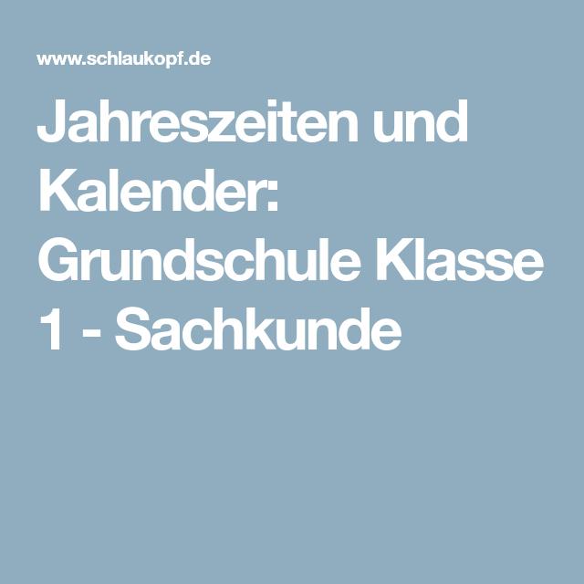 Jahreszeiten und Kalender: Grundschule Klasse 1 - Sachkunde | HSU ...